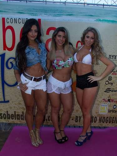 Aline Riscado, Ana Paula Minerato e Carol Narizinho participaram do concurso Bela da Praia