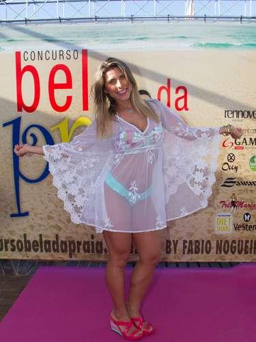 Ana Paula Minerato participou do concurso Bela da Praia