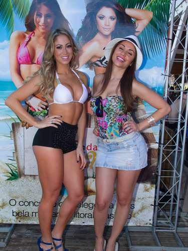Carol Narizinho e Maria Melilo participaram do concurso Bela da Praia