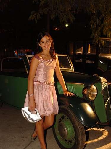 Em 2007, no lançamento da novela Desejo Proibido, Bruna usou um look delicado. \