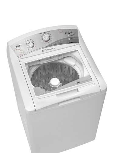 Lavadora com multi dispenser A lavadora de roupa Evolution 15kg, da Continental, possui 11 programações, ideias para diferentes tipos de roupa. Seu multi dispenser tem espaço para sabão em pó, amaciante, alvejante e um compartimento exclusivo para sabão liquido. O produto traz uma trava de segurança, acionada durante a centrifugação, e um botão que permite pausar a lavagem em qualquer momento. A lavadora apresenta quatro níveis de água e possibilita acionar apenas uma função. Preço sugerido: R$ 1.599. Informações: 3003-1953 (capitais e regiões metropolitanas) e 0800-702-0053 (demais localidades)
