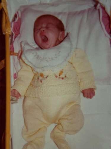 Na foto, Bruna ainda bebê