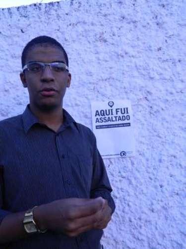 Segundo Danilo Juari, presidente do grêmio, a campanha visa a distribuir cartazes com os dizeres Aqui fui assaltado para que sejam colados no local onde ocorreu a violência