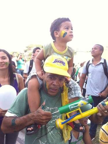 22 de junho -Protesto conta também com crianças