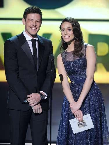 Cory e Emmy Rossum apresentam prêmio no Critics Choice Movie Awards, em janeiro de 2013
