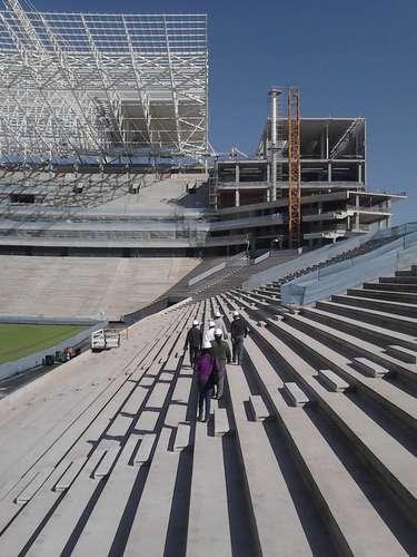 17de julho de 2013 -Cada uma das coberturas terá sete módulos, formando uma estrutura com 240 metros de comprimento