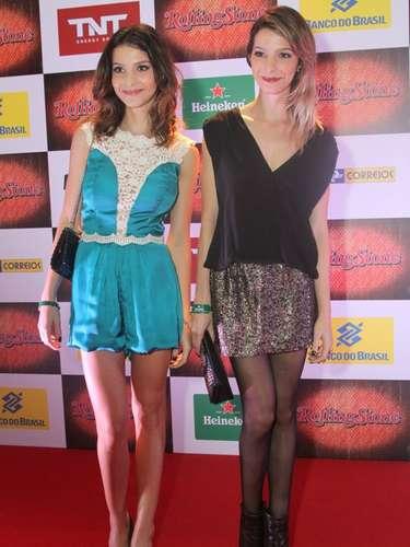 Na noite de quarta-feira (18) a revista Rolling Stone comemorou seus 7 anos com uma festa na Marina da Glória, no Rio de Janeiro. Na foto Michelle Batista e Giselle Batista