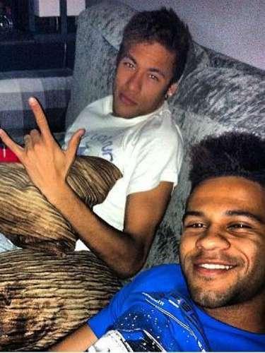 Serginho, do Palmeiras, viajou a Barcelona para encontrar Neymar