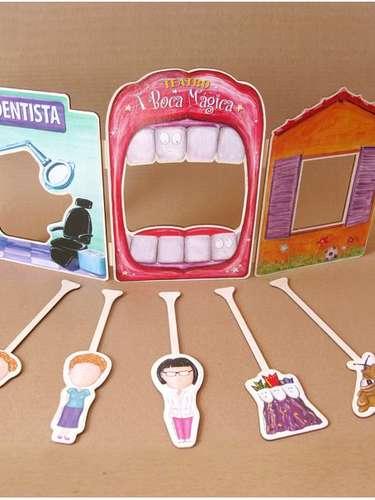 Além do livro, o blog A Boca Mágica traz kits educativos com atividades lúdicas, teatrinho e espelho para escovação