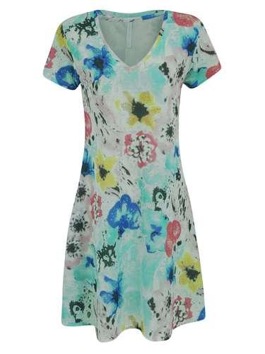 Vestido Renner em malha com estampa floral. R$ 79.90. SAC: (11) 2165-2800