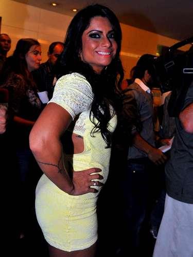 Dani Sperle também marcou presença na final do Miss Bumbum Brasil 2012