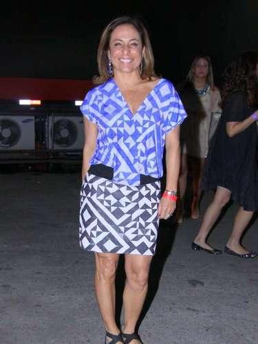 A atriz Cissa Guimarães também foi conferir o show