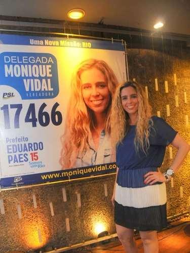Monique Vidal concorreu a uma vaga na Câmara dos Vereadores do Rio de Janeiro nas últimas eleições municipais