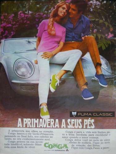 Conga: lançado em 1959 pela Alpargatas, o Conga teve seu auge entre os anos 1970 e 1980. Com design simples e cores variadas, o modelo era muito popular e acessível. Por ser de baixo custo, o Conga acabou sendo adotado por várias escolas públicas como parte do uniforme, explica a estilista e blogueira do My Dress Code, Isadora Lopes. Na década de 1990, acabou extinto no mercado por conta da concorrência com os tênis tecnológicos, ressalta Fernanda. Mas, em 2002, a marca foi relançada com um apelo retrô, a fim de atingir um público mais ligado em moda