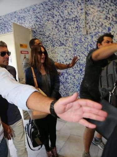 A atriz causou tumulto no aeroporto carioca