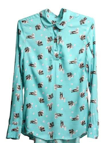Camisa com estampa de elefantes Poema Hit, R$ 249,75, Tel. 11 3331-6273