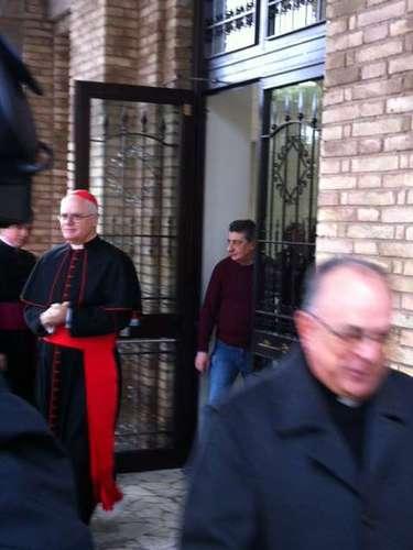 12 de março -Cardeais Odilo Scherer, Geraldo Majellae Raymundo Damasceno deixam Colégio Pontifíico Pio Brasileiro