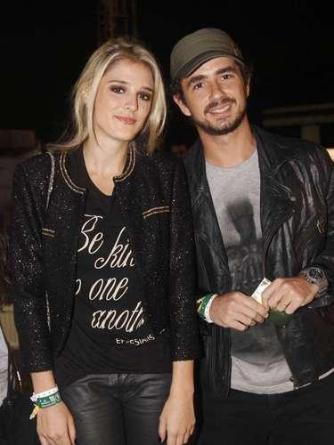 Neste sábado (30), segundo dia do festival Lollapalooza Brasil 2013, o Jockey Club de São Paulo recebeu alguns famosos. Na foto, Rafa Brites e Felipe Andreoli