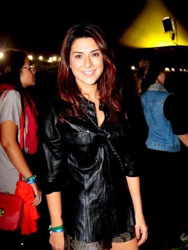 Famosos compareceram ao último dia de Lollapalooza, no Jockey Club de São Paulo, neste domingo (31). Na foto, Fernanda Paes Leme