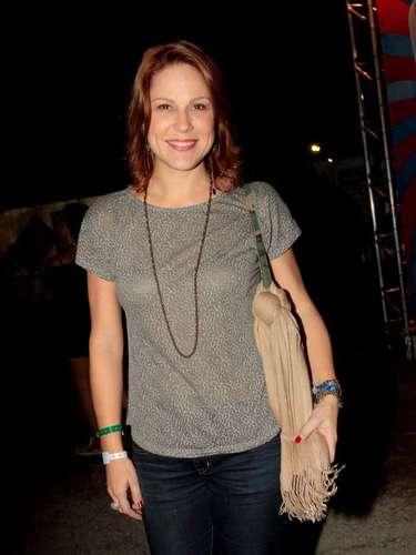 Famosos compareceram ao último dia de Lollapalooza, no Jockey Club de São Paulo, neste domingo (31). Na foto, Mariana Hein