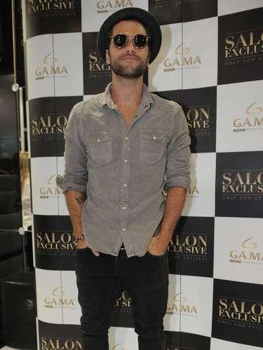 Bruno Gagliasso visitou a Hair Brasil