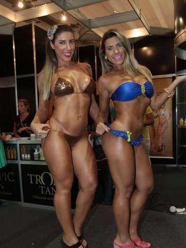 Tati e Ana Paula Minerato na Hair Brasil