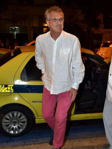 Famosos foram ao aniversário de 60 anos do cantor Lulu Santos no Copacabana Palace. Entre eles,o apresentador Pedro Bial
