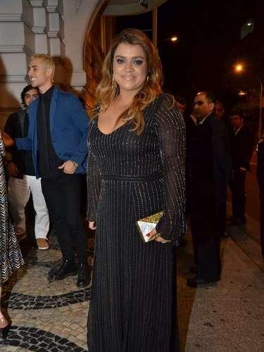 Famosos foram ao aniversário de 60 anos do cantor Lulu Santos no Copacabana Palace. Entre eles,Preta Gil