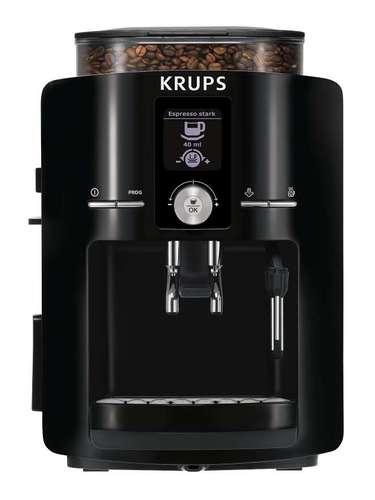 Cafeteira com moedor níveis A espresseira automática EA85, da Krups, possui display interativo em LCD e moedor de grãos com três níveis, para atender a diversidade de paladares. Tem ainda depósito de borras, reservatório de água com filtro, bandeja de recolhimento de pingos e vaporizador. Preço sugerido: 2.499,99. Informações: 0800-725-7877