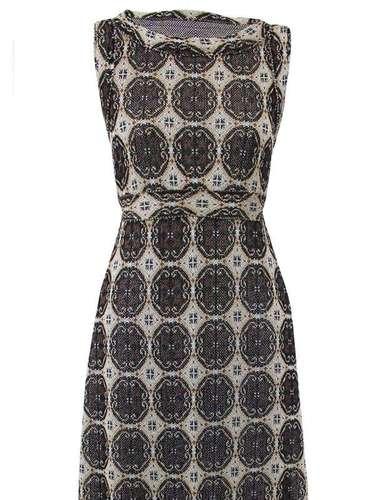 Vestido estampado da Cecília Prado. Preço: R$ 914. Informações: (11) 3152-6055
