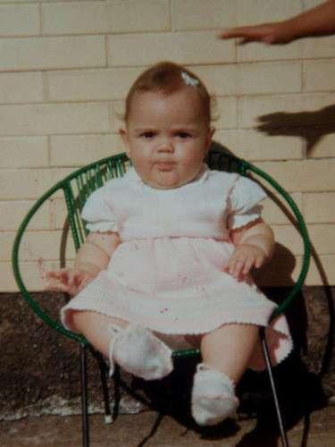 Keyla Vilaça quando era bebê