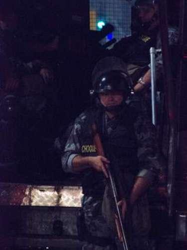 6 de junho -A Tropa de Choque da Polícia Militar precisou intervir no protesto
