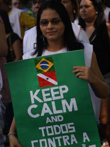 22 de junho Não faltou criatividade para os cartazes dos manifestantes na capital paraense