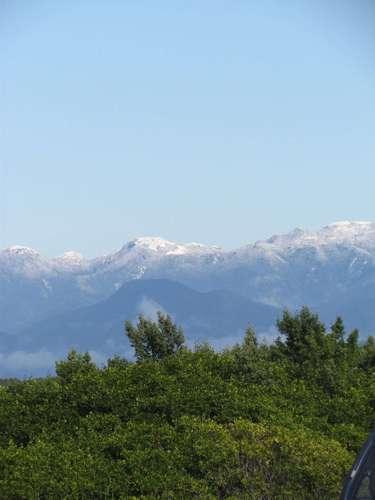 23 de julho - Paisagem na região metropolitana foi modificada pela presença da neve no topo do Cambirela
