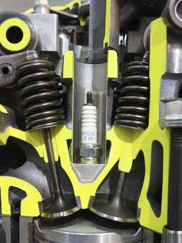 O motor de 8 válvulas tem 2 por cilindro e se destaca pelo baixo consumo em baixas rotações