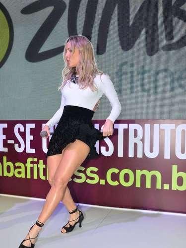 Claudia Leitte foi o grande destaque da14ª edição da feira IHRSA Fitness Brasil, neste sábado (7)