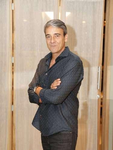 O elenco de 'Além do Horizonte' participou da coletiva de imprensa da nova novela das sete, da Globo, nesta terça-feira (15). Na foto, Alexandre Borges