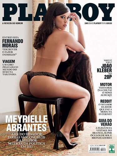 Casada por uma década com o senador Jarbas Vasconcellos, 40 anos mais velho do que ela, Meyrielle Abrantes é capa da edição de novembro da revista Playboy; as imagens foram divulgadas pela publicação nesta quinta-feira (7)