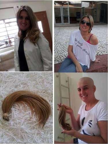 A professora Juliana Martin, 34, descobriu que estava com câncer de mama e resolveu se antecipar à queda do cabelo causada pela quimioterapia