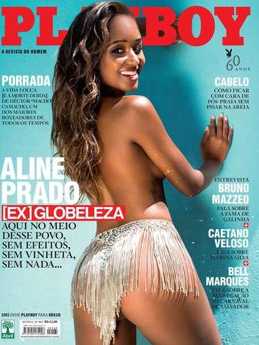 A ex-globeleza Aline Prado será a capa da edição de fevereiro da revista Playboy