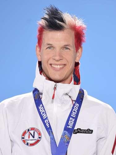Pintar o cabelo com as cores do seu país foi a estratégia do norueguês Magnus Krog