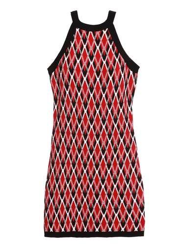 Vestido estampado vermelho Thelure. R$ 928. SAC: (11) 3073-1768