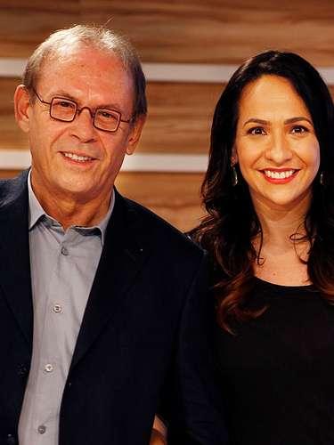 José Wilker morreu na manhã deste sábado (5), vítima de um infarto fulminante, em sua casa no Rio de Janeiro. Na foto, o ator com Maria Beltrão, durante a apresentação do Oscar 2013