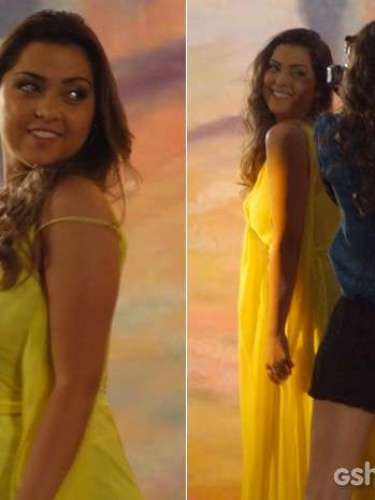 Bárbara (Polliana Aleixo) posa para Marina (Tainá Müller) e deixa Shirley (Vivianne Pasmanter) empolgasda