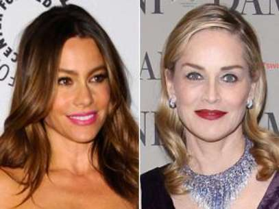 Sofia Vergara and Sharon Stone. Foto: Getty Images