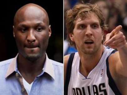 Lamar Odom And Dirk Nowitzki. Foto: Getty Images
