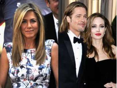 Jennifer Aniston, Brad Pitt and Angelina Jolie. Foto: Getty Images
