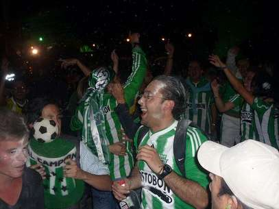 Hinchas de Atltico Nacional.