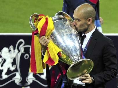 Josep Guardiola celebra el título de Champions League en Wembley. Foto: Getty Images
