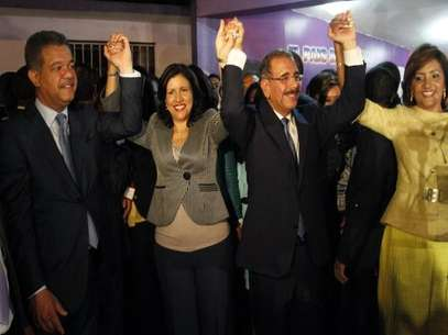 anilo Medina, right, and Margarita Cedeno, presidential and vice presidential candidates. Foto: AP